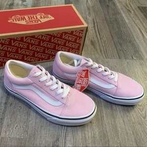 Vans old skool light pink and white shoes sneakers